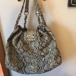 kate ♠️ spade snake embossed handbag with dust bag